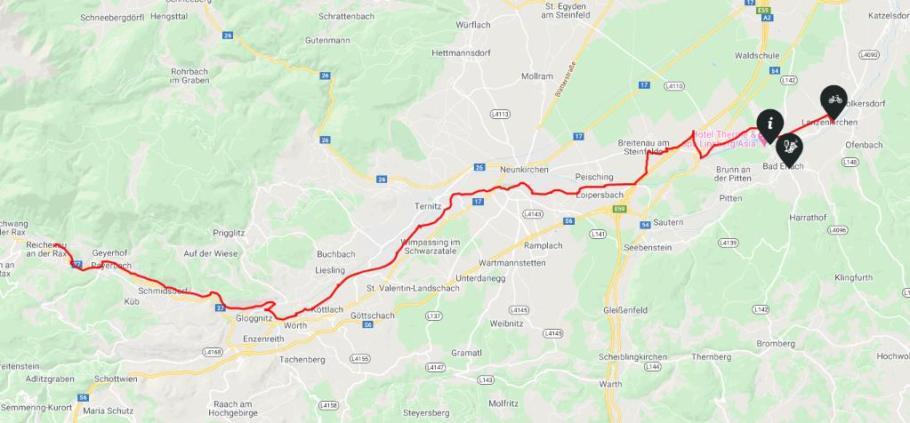 Schwarzatal Radweg Karte