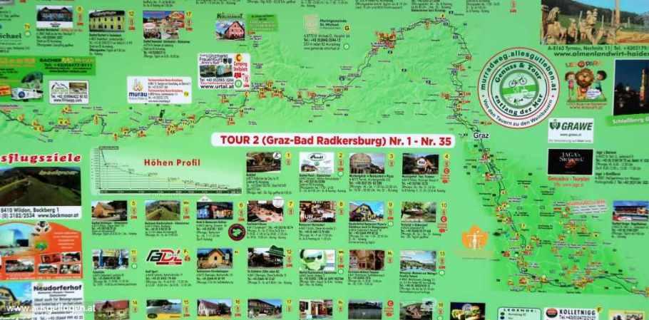 Murradweg Karte
