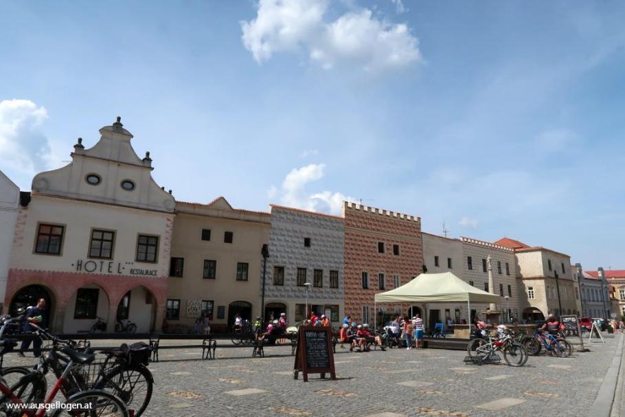 Slavonice Hauptplatz