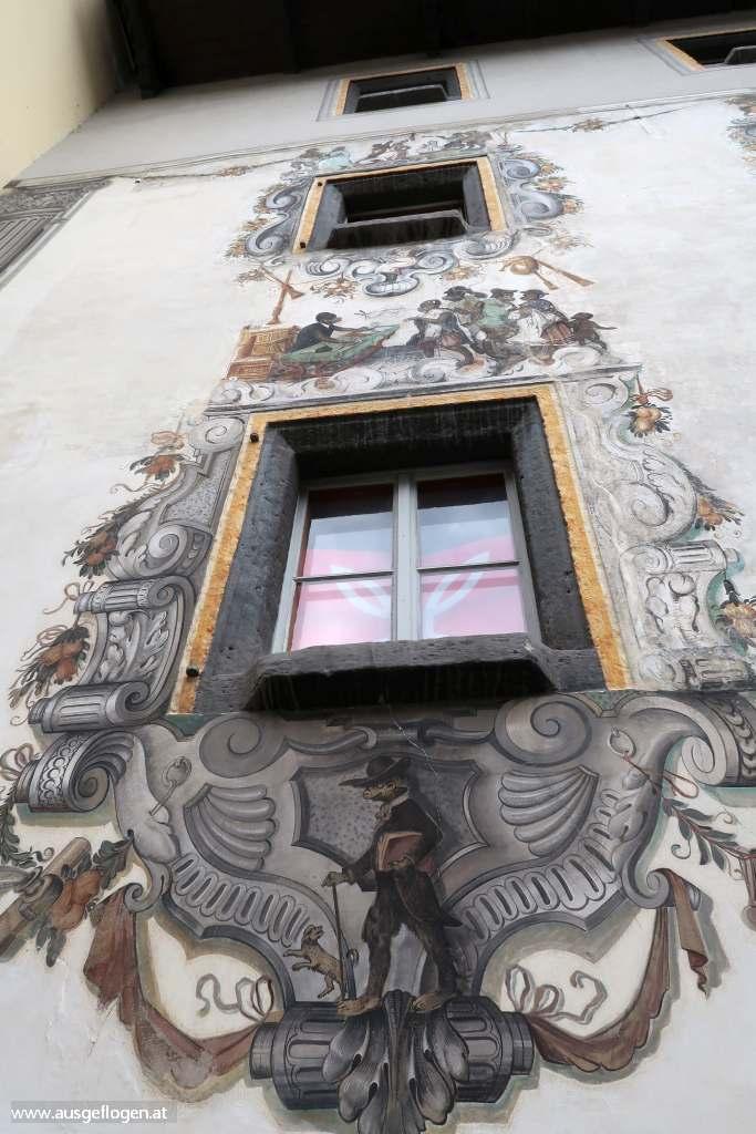 Berchtesgaden Hirschenhaus Lüftlmalerei
