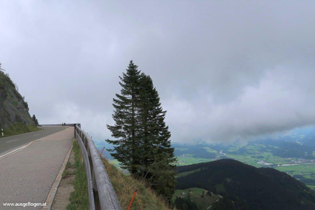 Rossfeld Panoramastraße Grenze Österreich Deutschland