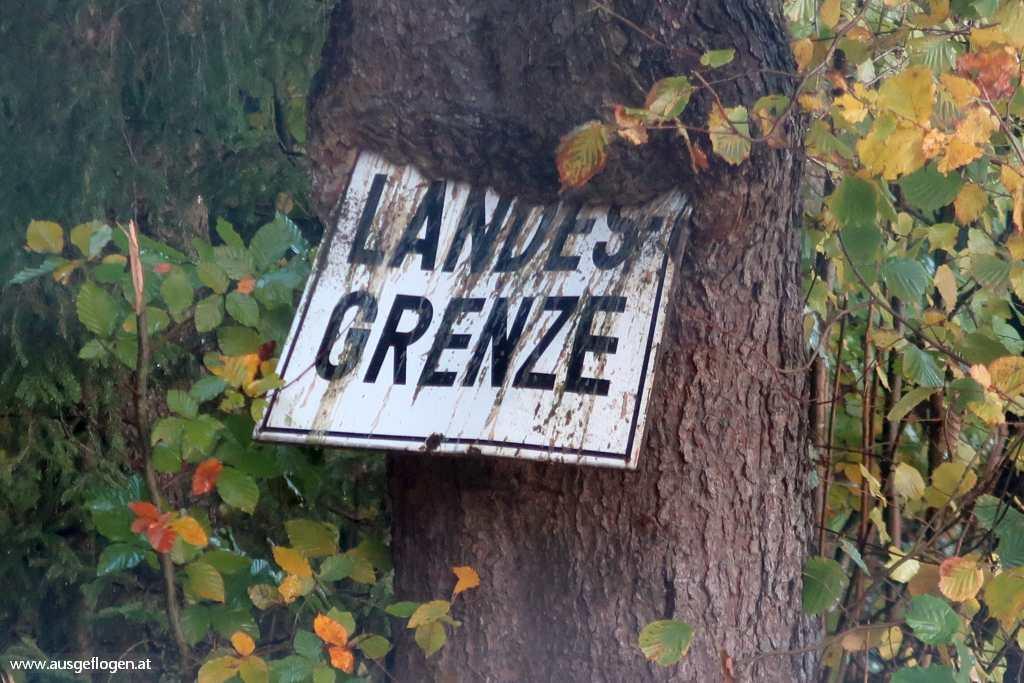 Grenze Deutschland Österreich Rannasee