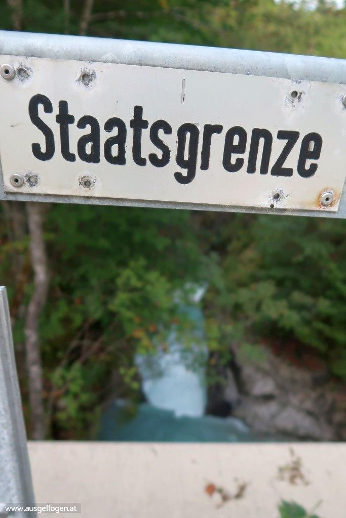 Grenzbrücke am Rißbachfall Hinterriß