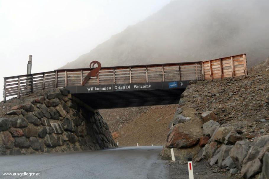 Kaunertaler Gletscherstraße Ende auf 2.750 Metern Höhe