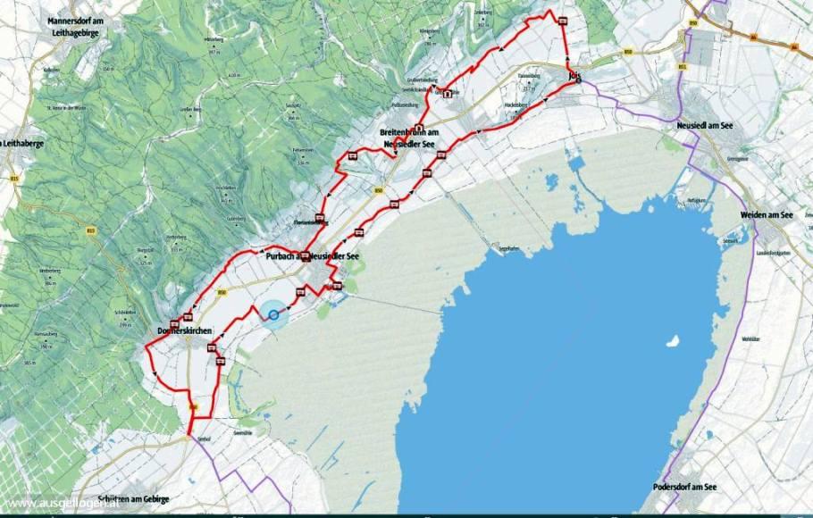 Kirschblütenradweg Route Karte