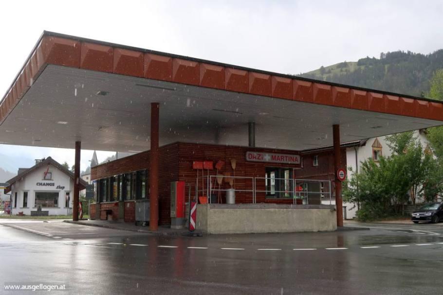 Grenzübergang Martina Dreiländereck Österrreich Italien Schweiz