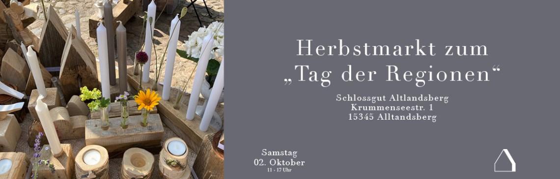 """C&C HOLZMANUFAKTUR - Herbstmarkt zum """"Tag der Regionen"""" in Altlandsberg"""