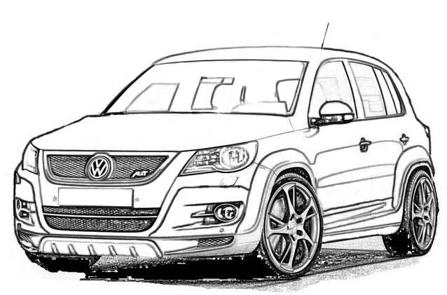 Volkswagentiguan Ausmalbild