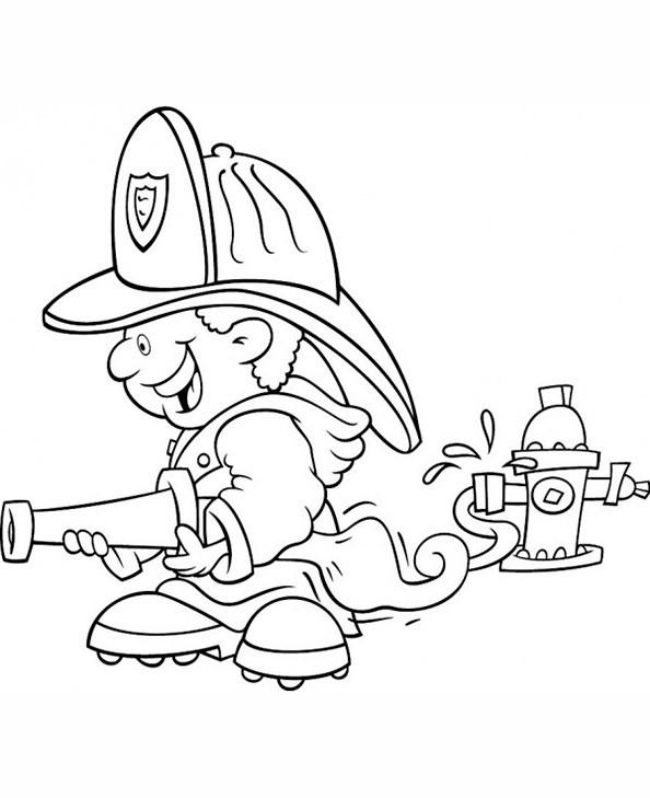 Feuerwehr 2 Ausmalbild