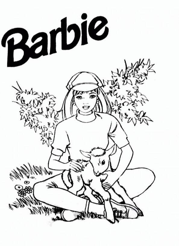 Barbie 1 Ausmalbild