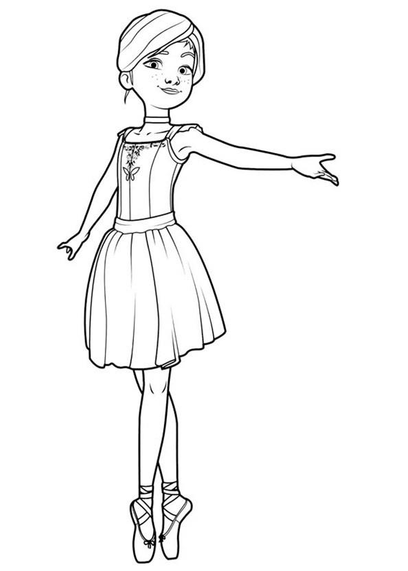 Ballerina 2 Ausmalbild