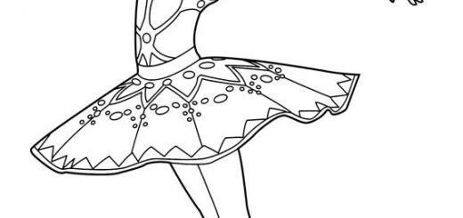ballerina (2)  ausmalbild