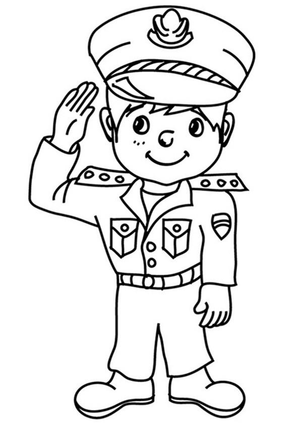 Polizei (4) Ausmalbild