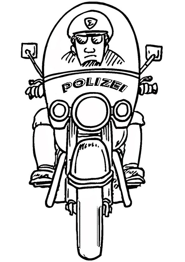 Polizei (12) Ausmalbild