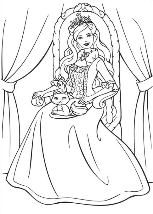 Malvorlagen Zum Drucken Ausmalbild Barbie Die Prinzessin