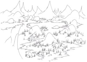 Malvorlagen zum Drucken Ausmalbild Berg Gebirge kostenlos 3