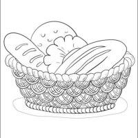 Malvorlagen zum Drucken Ausmalbild Brot kostenlos 1
