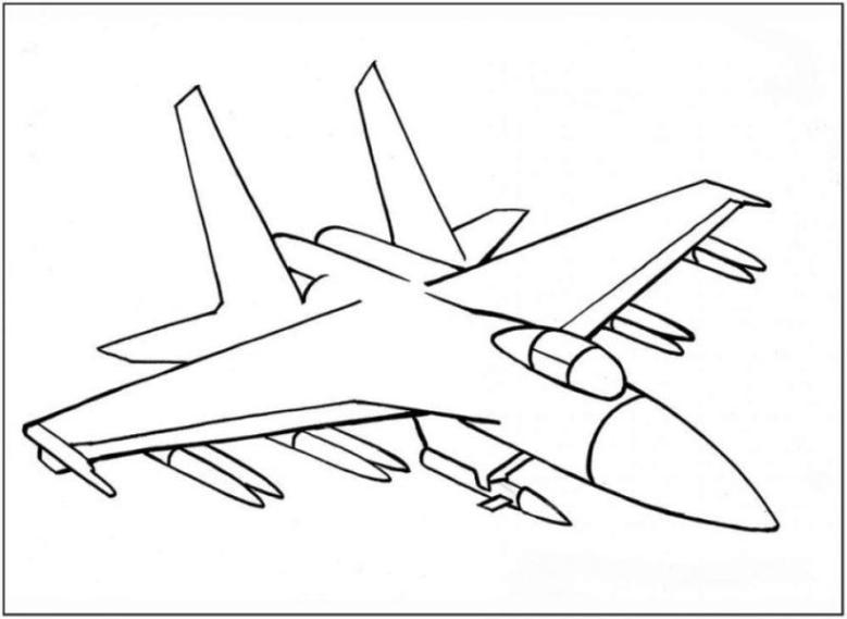 Ausmalbild Flugzeug Kostenlos