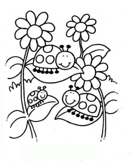 Malvorlagen zum Drucken Ausmalbild Marienkäfer kostenlos 1