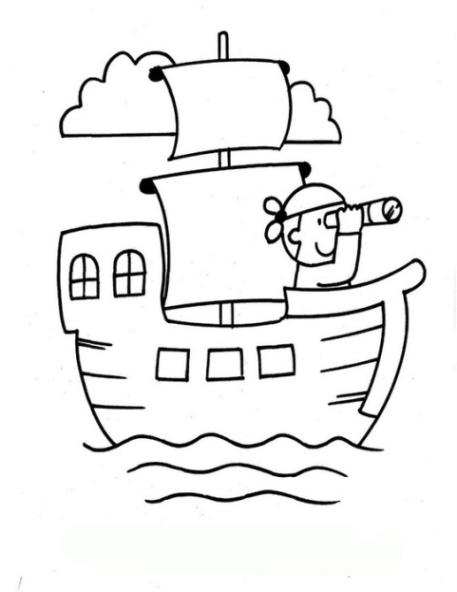 Malvorlagen zum Drucken Ausmalbild Piratenschiff kostenlos 1