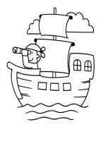 Malvorlagen zum Drucken Ausmalbild Schiff kostenlos 6