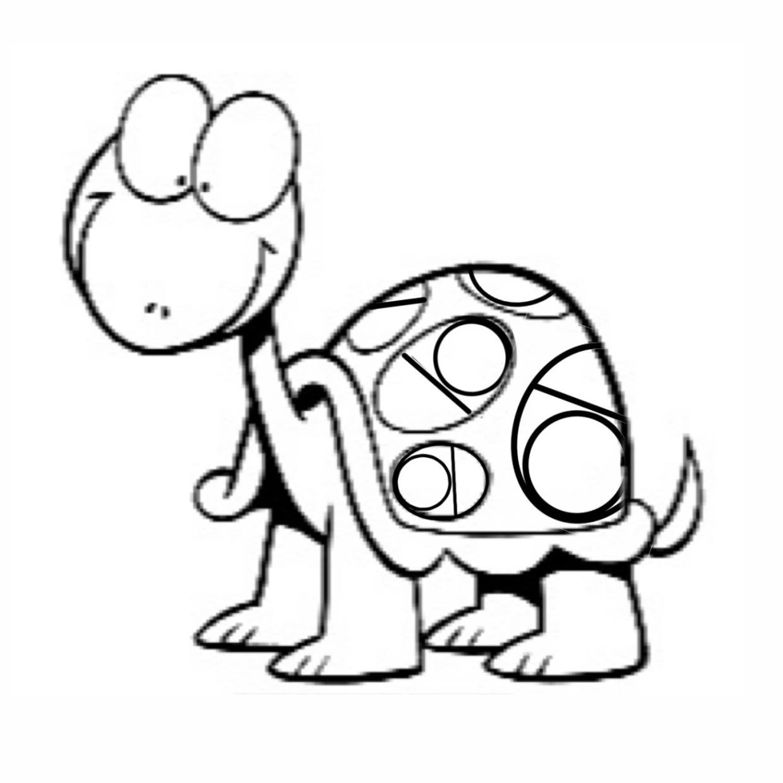 Malvorlagen zum Drucken Ausmalbild Schildkröte kostenlos 1
