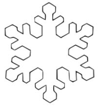 Malvorlagen zum Drucken Ausmalbild Schneeflocke kostenlos 2