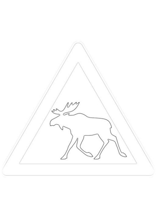 Malvorlagen zum Drucken Ausmalbild Verkehrszeichen kostenlos 1