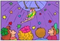 Zirkus Ausmalbilder Seiltnzerin