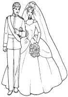 Ausmalbilder Barbie und Ken zu heiraten   Ausmalbilder ...