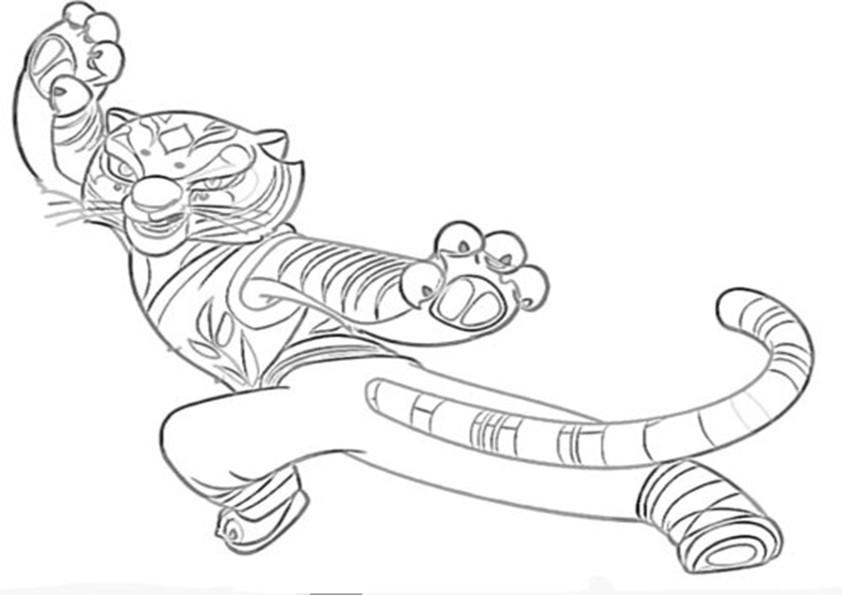 Kung Fu Panda 7 Ausmalbilder Malvorlagen