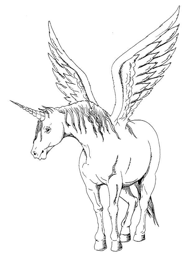 Ausmalbilder malvorlagen ausmalen  pferde-25-einhorn