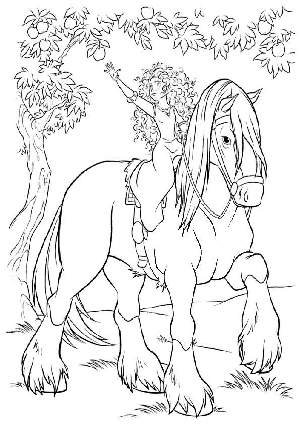 Pferde-50 Ausmalbilder Malvorlagen