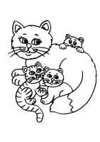 Ausmalbilder, Malvorlagen, katzen   Ausmalbilder Malvorlagen