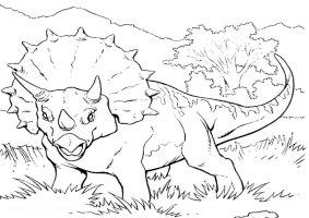Ausmalbilder Dinosaurier 7   Ausmalbilder Malvorlagen