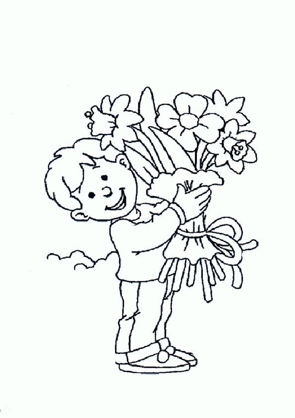 Ausmalbilder Blumen-25 Ausmalbilder Malvorlagen