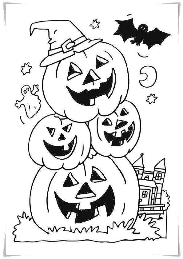 Ausmalbilder Halloween-4 Ausmalbilder Malvorlagen