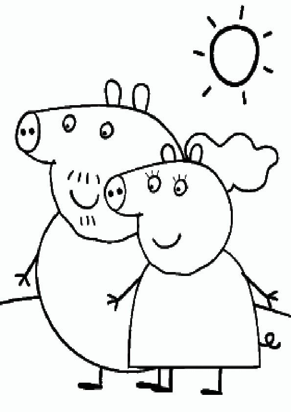 Ausmalbilder Peppa Pig-16 Ausmalbilder Malvorlagen