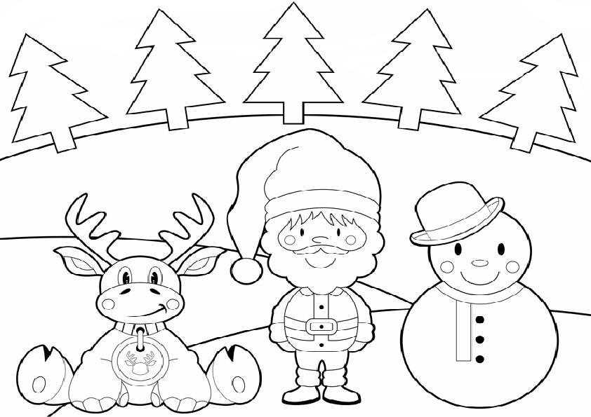 Ausmalbilder Weihnachten-44 Ausmalbilder und Basteln mit