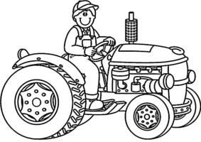 ausmalbilder traktor 1   Ausmalbilder Malvorlagen