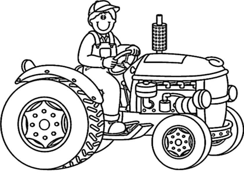 Ausmalbilder traktor-1 Ausmalbilder Malvorlagen
