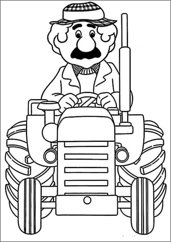 Malvorlagen Bauernhof Traktor