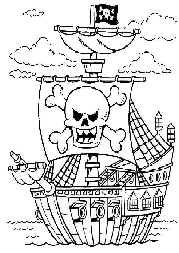 Ausmalbilder piraten-1 Ausmalbilder Malvorlagen