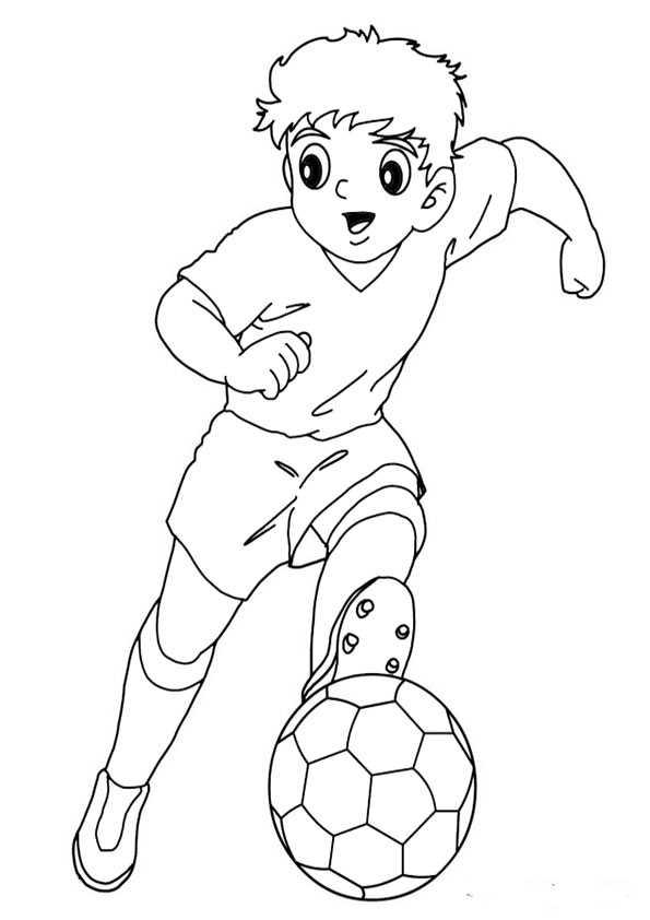 Fußball Malvorlage