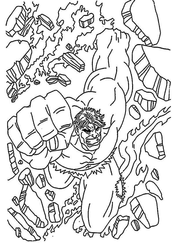 Ausmalbilder Hulk 6 Ausmalbilder Malvorlagen