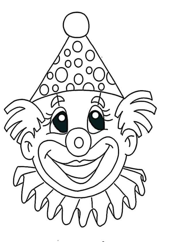 Ausmalbilder clown-2 Ausmalbilder Malvorlagen
