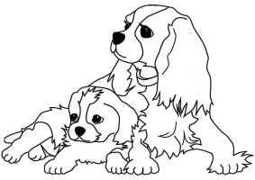ausmalbilder hunde 2   Ausmalbilder Malvorlagen
