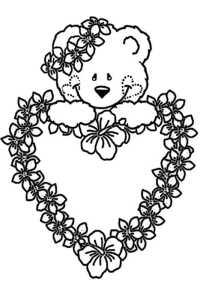 Ausmalbilder Blumen Mit Herz Kostenlose Malvorlage Herzen Herz