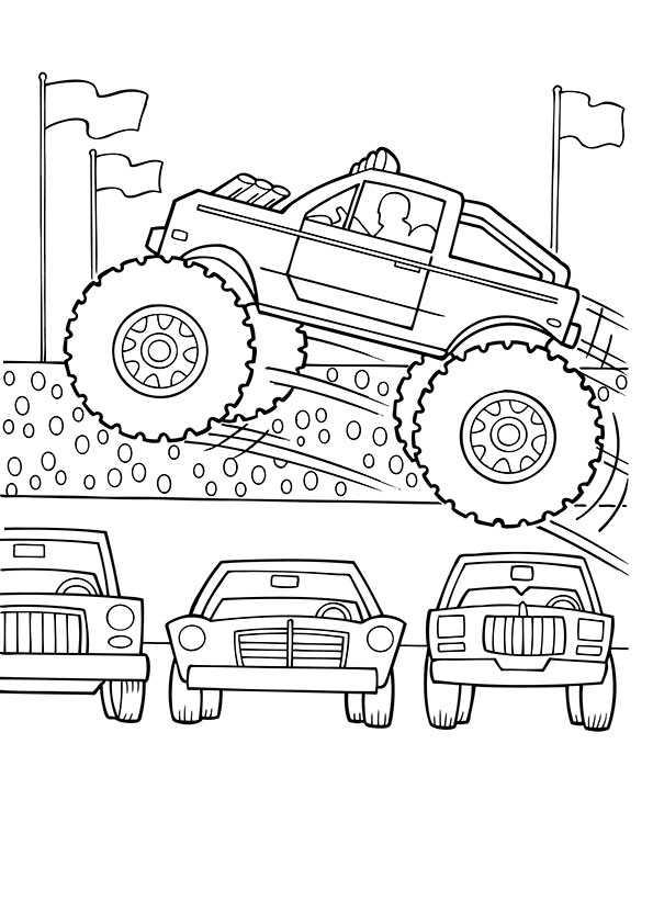 Ausmalbilder Monster Truck 1 Ausmalbilder Malvorlagen