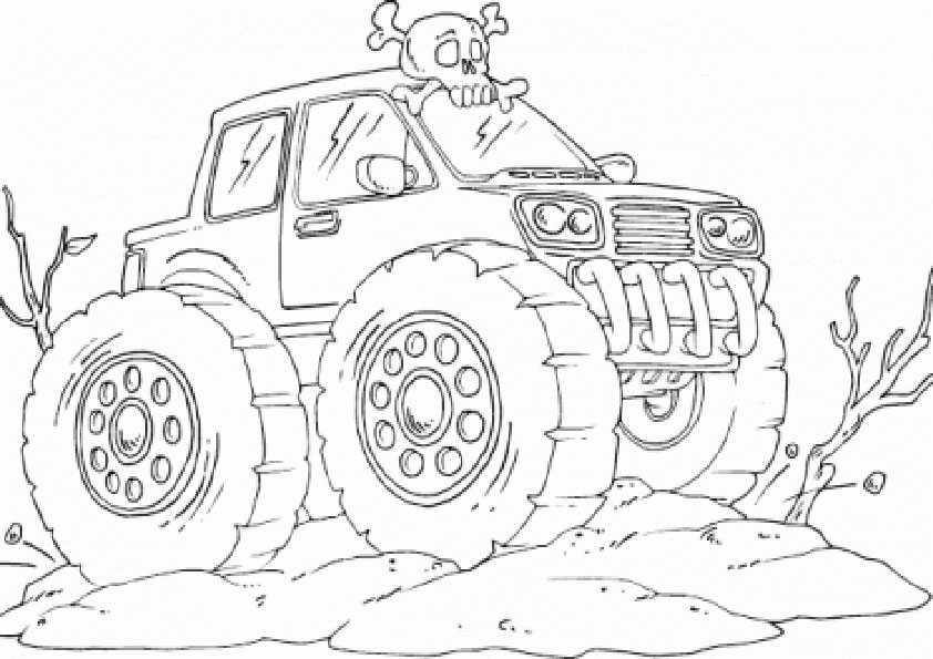 Ausmalbilder monster truck -2 Ausmalbilder Malvorlagen